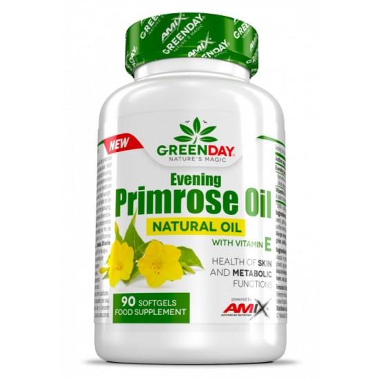 Naktssveces Eļļa + Vit E 90 kapsulas -Amix Nutrition