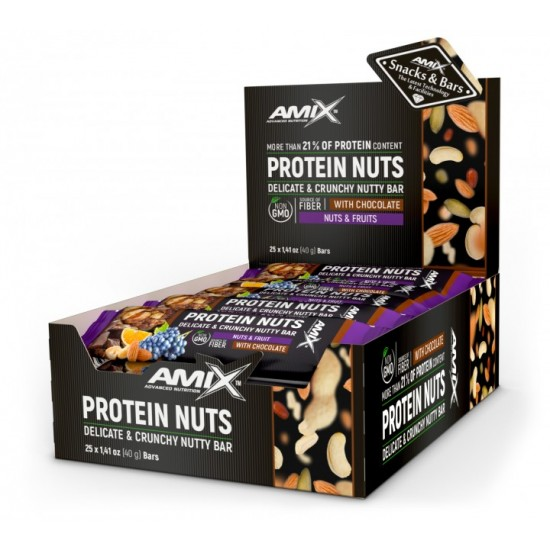 Protein Nuts 25x40g -Amix Nutrition