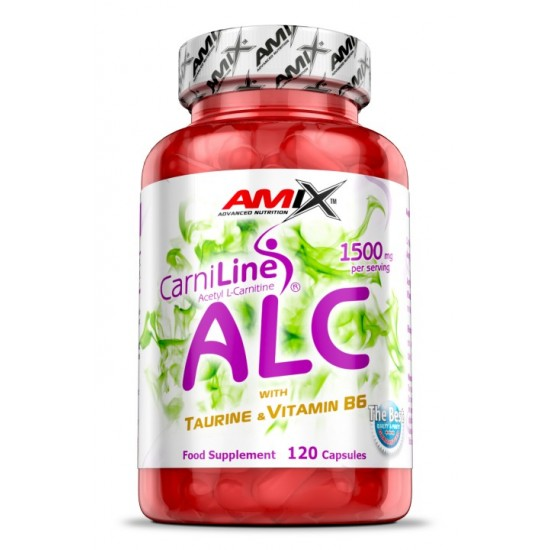 ALC - with Taurin  Vitamine B6 120 caps -Amix Nutrition