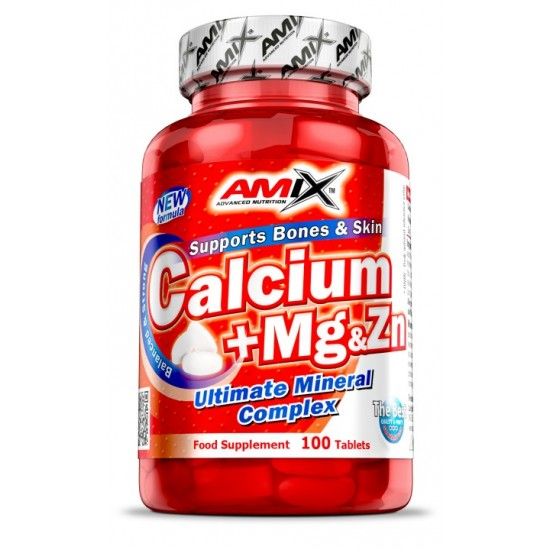 Calcium + Mg + Zn  100 tab -Amix Nutrition