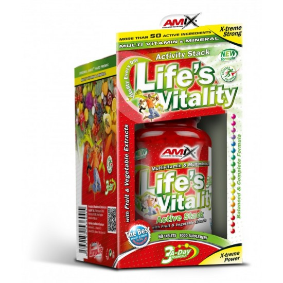 Life s Vitality Active Stack 60 Tab -Amix Nutrition