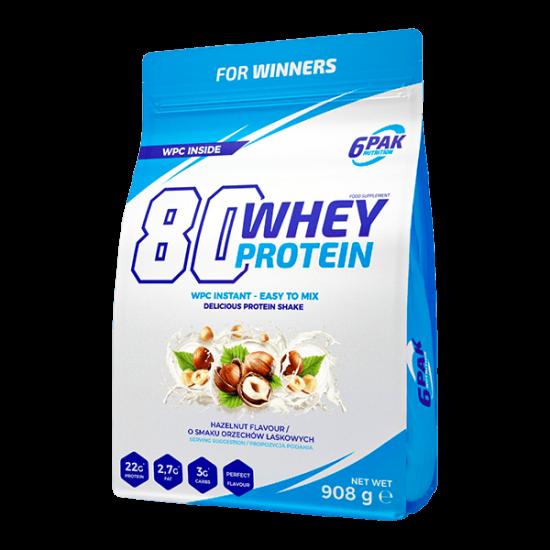 6 Pak Whey protein 80 - 908g