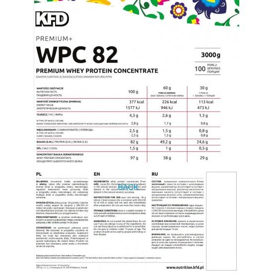 PREMIUM WPC Protein 82 900 g -KFD Nutrition