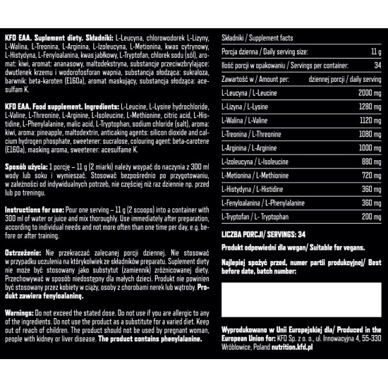 KFD Premium EAA aminoskābes 375g
