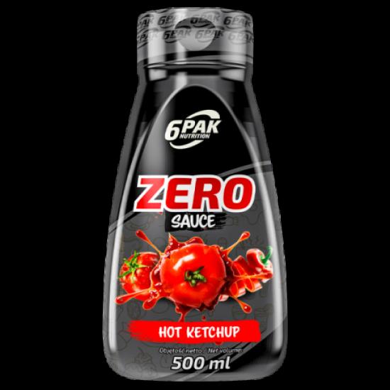 6 PAK-Zero Sauce -  HOT Ketchup 500ml