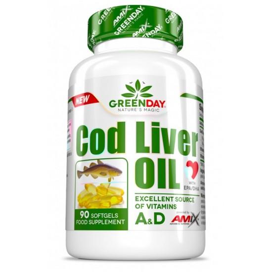Mencu aknu eļļa ar vitamīnu A un D 90 caps