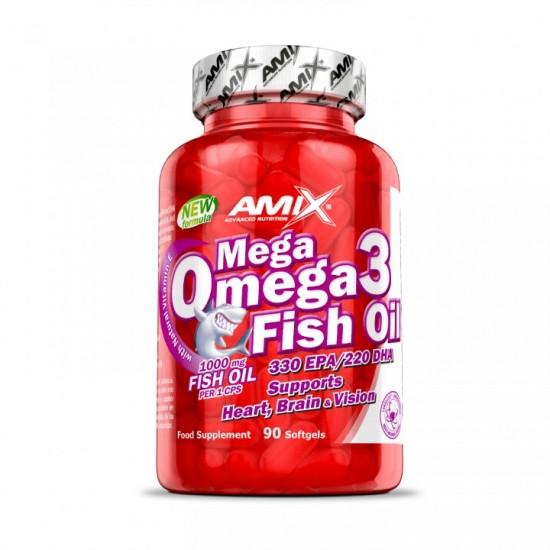 Amix Mega Omega 3 zivju eļļa 1000mg