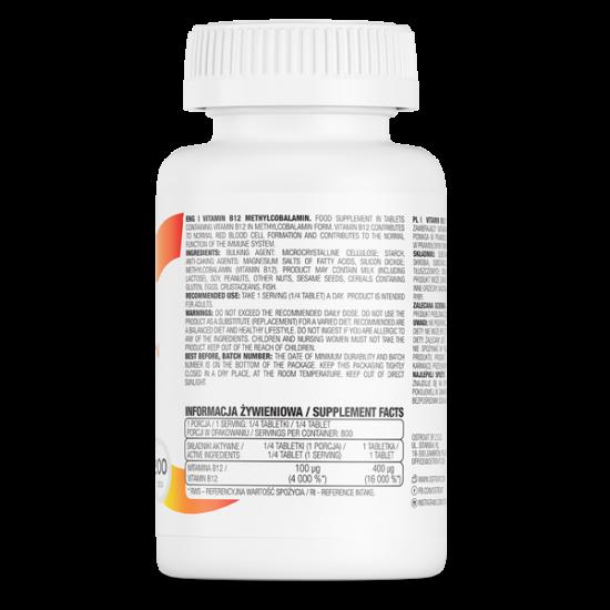Ostrovit Vitamīns B12 Metilkobalamīns 200 Tab