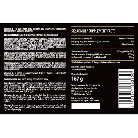 KFD Vitamin C+ 100 tab -KFD Nutrition