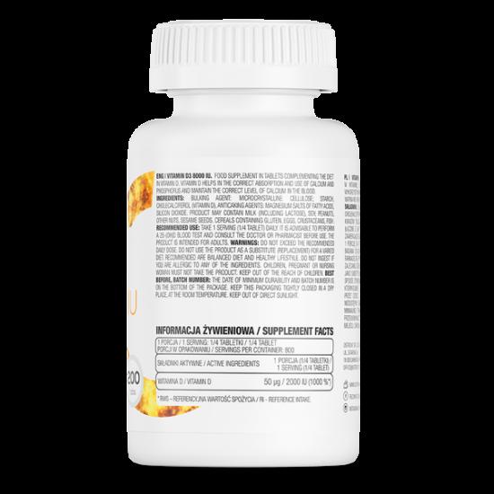 Ostrovit Vitamīns D3 8000 200 Tabletes
