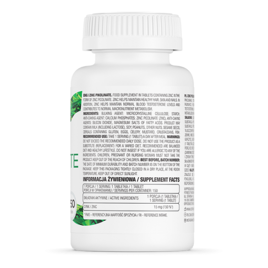 OstroVit Zinc Piccolinate / Cinka Pikolināts 150 tab